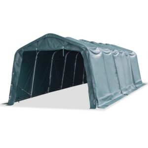 vidaXL Removable Livestock Tent PVC 550 g/m² 3.3×9.6 m Dark Green