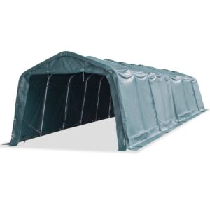 vidaXL Removable Livestock Tent PVC 550 g/m² 3.3×12.8 m Dark Green