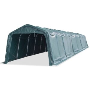 vidaXL Removable Livestock Tent PVC 550 g/m² 3.3×16 m Dark Green