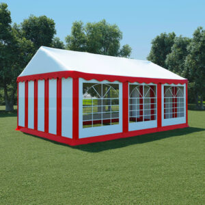 vidaXL Garden Marquee PVC 4×6 m Red and White