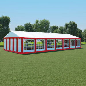 vidaXL Garden Marquee PVC 6×14 m Red and White