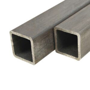vidaXL 4 pcs Structural Steel Tubes Square Box Section 1m 40x40x2mm