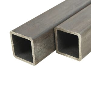 vidaXL 2 pcs Structural Steel Tubes Square Box Section 2m 50x50x2mm
