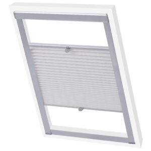 vidaXL Pleated Blind White SK08