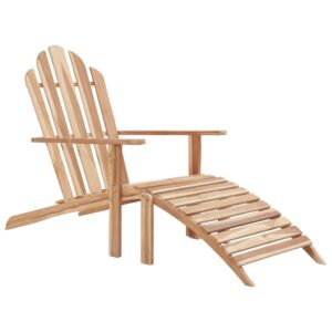 vidaXL Adirondack Chair with Footrest Teak