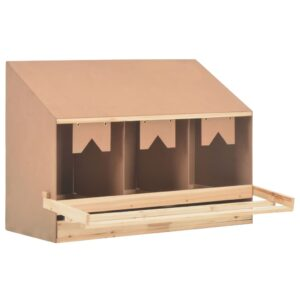 vidaXL Chicken Laying Nest 3 Compartments 93x40x65 cm Solid Pine Wood