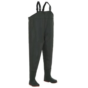 vidaXL Wading Pants with Boots Green Size 43