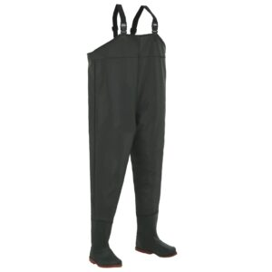 vidaXL Wading Pants with Boots Green Size 46