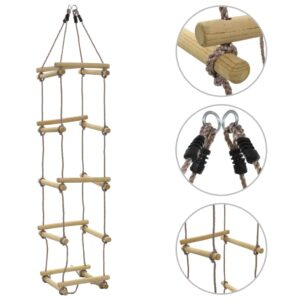 vidaXL Kids Rope Ladder 200 cm Wood