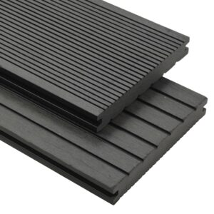 vidaXL WPC Solid Decking Boards with Accessories 10 m² 2.2 m Grey