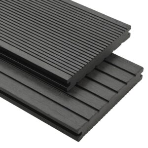 vidaXL WPC Solid Decking Boards with Accessories 16 m² 2.2 m Grey