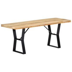 vidaXL Bench 110 cm Solid Mango Wood
