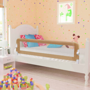 vidaXL Toddler Safety Bed Rail Taupe 150×42 cm Polyester