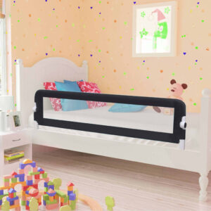 vidaXL Toddler Safety Bed Rail Grey 150×42 cm Polyester