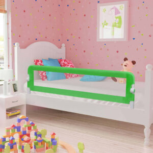 vidaXL Toddler Safety Bed Rail Green 120×42 cm Polyester