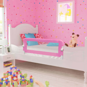 vidaXL Toddler Safety Bed Rail Pink 120×42 cm Polyester