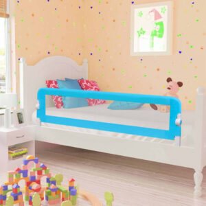 vidaXL Toddler Safety Bed Rail Blue 120×42 cm Polyester