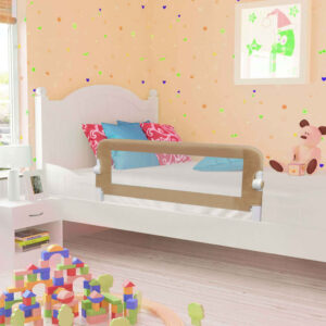 vidaXL Toddler Safety Bed Rail Taupe 120×42 cm Polyester