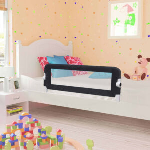 vidaXL Toddler Safety Bed Rail Grey 120×42 cm Polyester