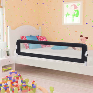 vidaXL Toddler Safety Bed Rail Grey 180×42 cm Polyester