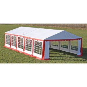 vidaXL Party Tent Top and Side Panels 10 x 5 m Red & White