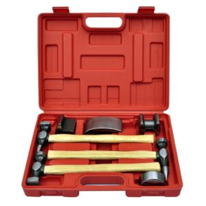 vidaXL 7-Piece Auto Body Hammer and Dolly Dent Repair Set