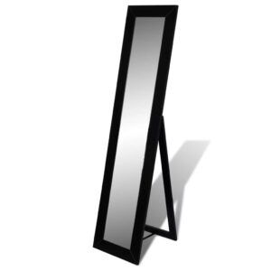 Free Standing Mirror Full Length Black