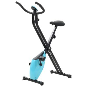 vidaXL Magnetic Exercise X-Bike with Pulse Measurement Black and Blue