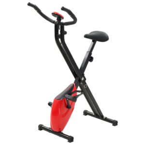 vidaXL Magnetic Exercise X-Bike with Pulse Measurement Black and Red