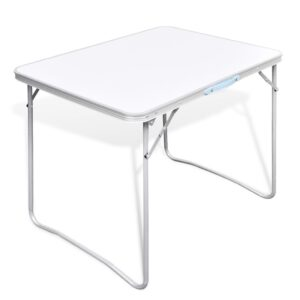Foldable Camping Table with Metal Frame 80 x 60 cm