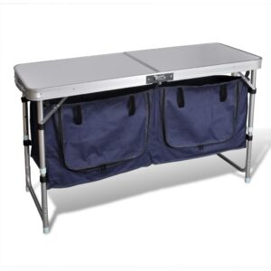 Foldable Camping Cupboard with Aluminium Frame