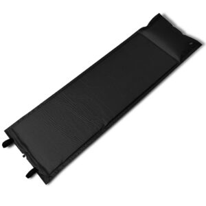 Black Self-inflating Sleeping Mat 185 x 55 x 3 cm (Single)