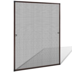 Brown Insect Screen for Windows 100 x 120 cm