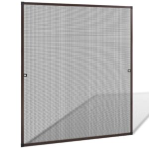 Brown Insect Screen for Windows 130 x 150 cm