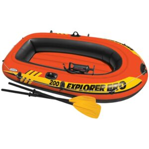 Intex Explorer Pro 200 Set Inflatable Boat with Oars and Pump 58357NP