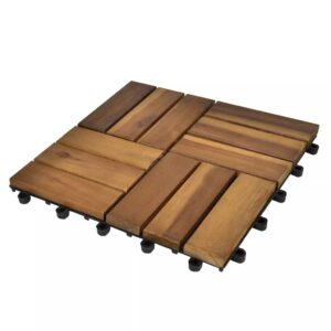 Decking Tiles 30 x 30 cm Acacia Set of 20