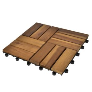 Decking Tiles 30 x 30 cm Acacia Set of 30