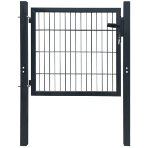 2D Fence Gate (Single) Anthracite Grey 106 x 130 cm