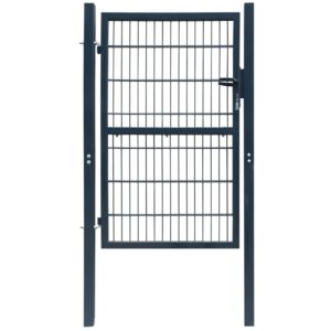 2D Fence Gate (Single) Anthracite Grey 106 x 230 cm