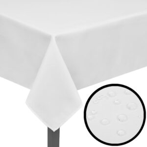 5 Tablecloths White 220 x 130 cm