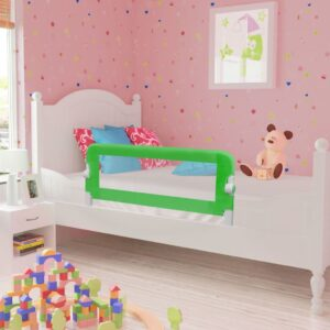vidaXL Toddler Safety Bed Rail 102 x 42 cm Green