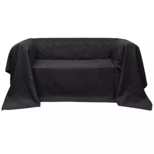 Micro-suede Couch Slipcover Anthracite 270 x 350 cm