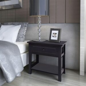 vidaXL Bedside Cabinets 2 pcs Wood Black
