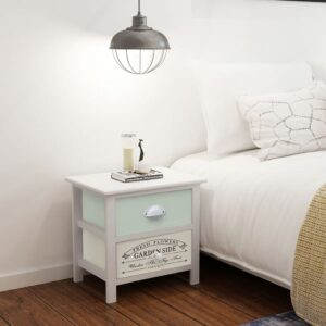 vidaXL French Bedside Cabinet Wood