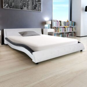 vidaXL Bed Frame Artificial Leather 5FT King Size/150×200 cm
