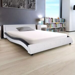 vidaXL Bed Frame Artificial Leather 4FT6 Double/135×190 cm