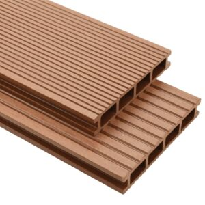 vidaXL WPC Decking Boards with Accessories 16 m² 2.2 m Brown