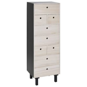 Home&Styling Highboard with 9 Drawers MDF