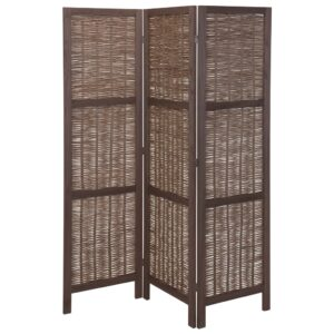 Home&Styling Room Screen Wood and Willow Dark Brown