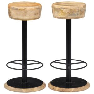 vidaXL Bar Chairs 2 pcs Solid Mango Wood